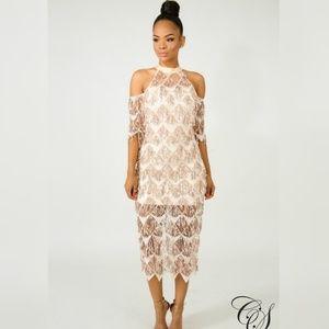 f86577096a5 Dresses   Skirts - Margaret Fringe Sequin Midi Dress